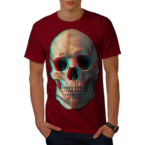 Skull Glow Evil Eyes Mens T-Shirt