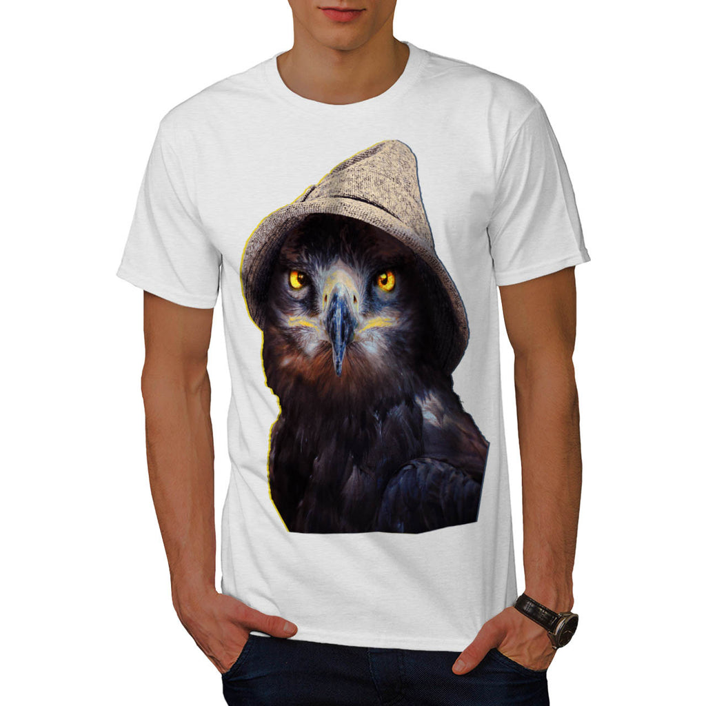 Funny Looking Owl Mens T-Shirt
