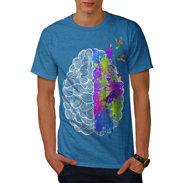 Colorful Brain Art Mens T-Shirt