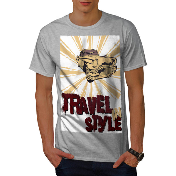 Travel In Style Car Mens T-Shirt