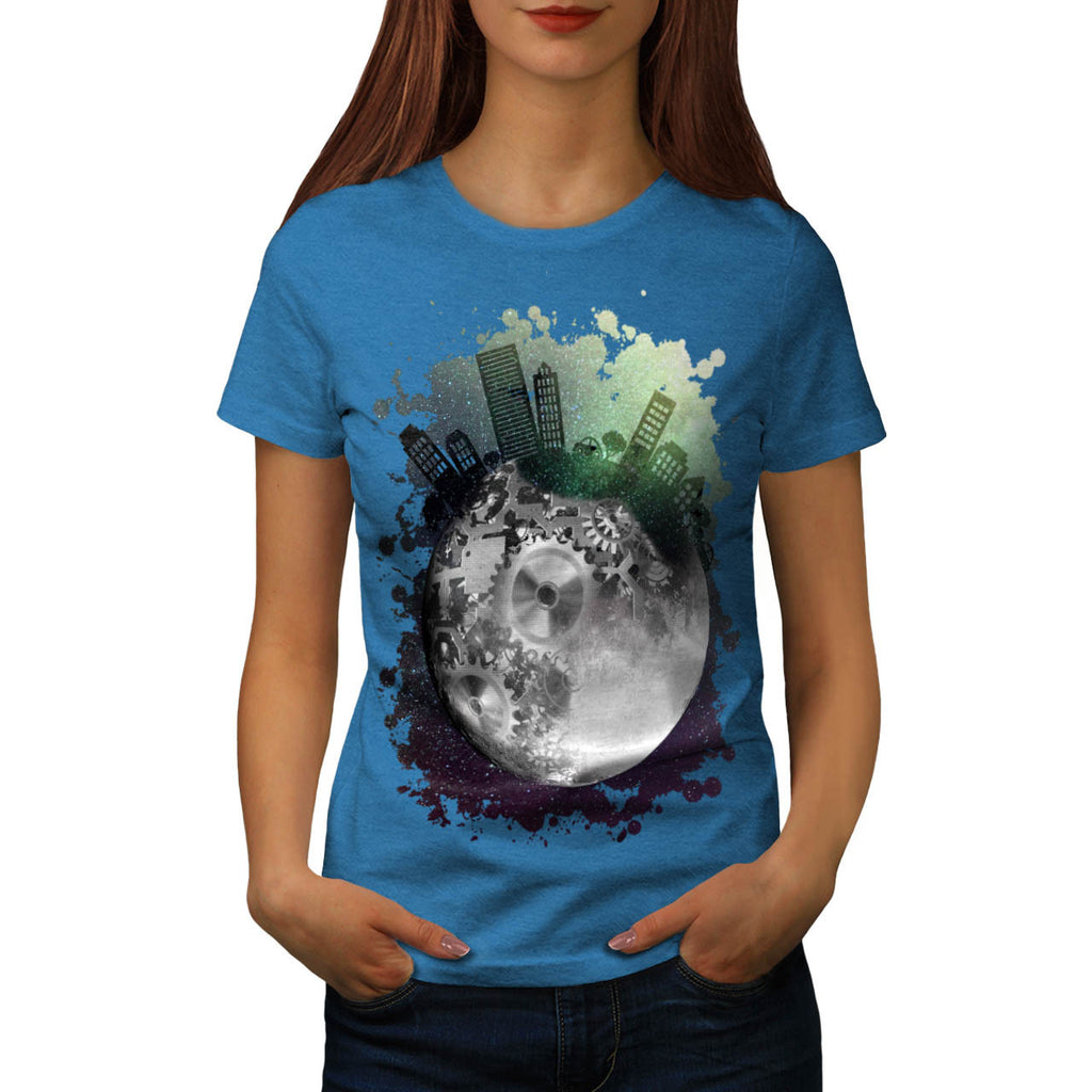 Fantasy Planet World Womens T-Shirt