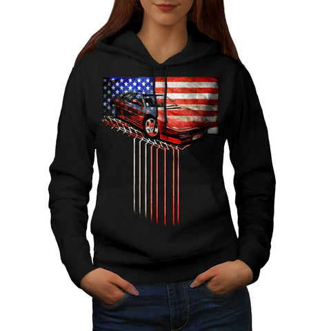 American Speed Fan Womens Hoodie