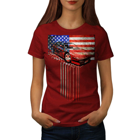 American Speed Fan Womens T-Shirt