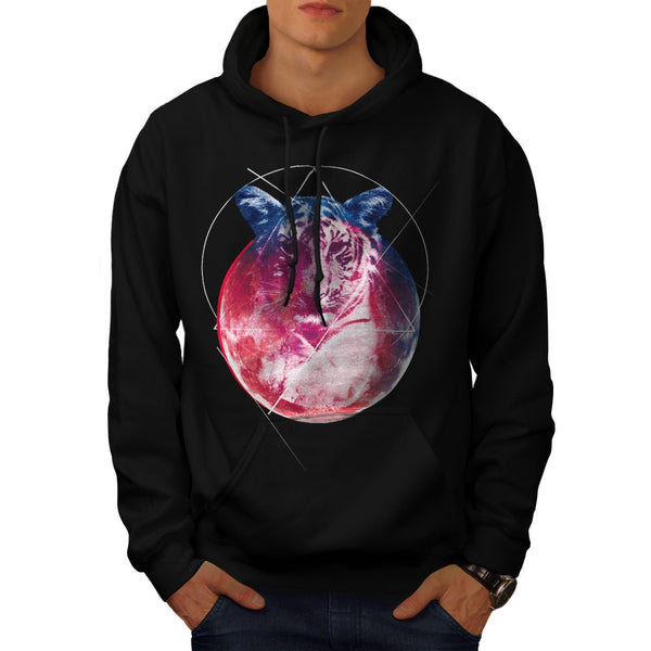 Animal Tiger Universe Mens Hoodie