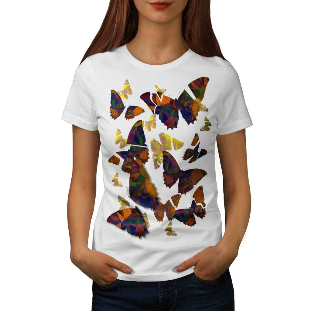Butterfly Cubism Art Womens T-Shirt