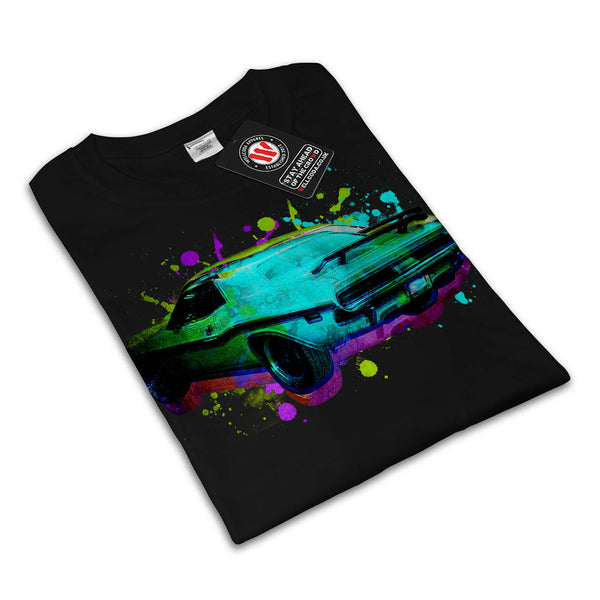 Race Car Splatter Mens T-Shirt