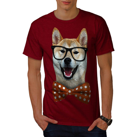 Smart Shiba Inu Dog Mens T-Shirt
