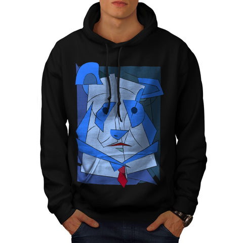 Abstract Cubism Dog Mens Hoodie