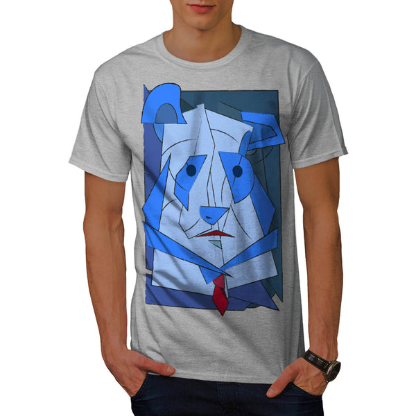 Abstract Cubism Dog Mens T-Shirt