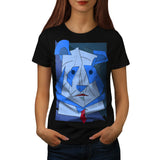 Abstract Cubism Dog Womens T-Shirt