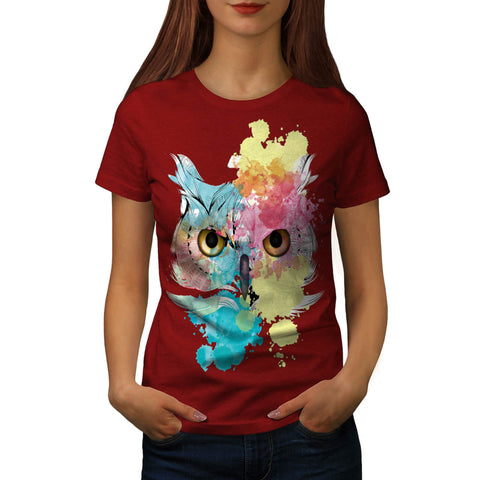 Fantasy Animal Owl Womens T-Shirt