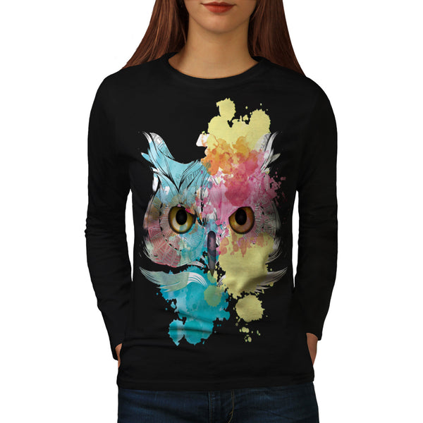 Fantasy Animal Owl Womens Long Sleeve T-Shirt