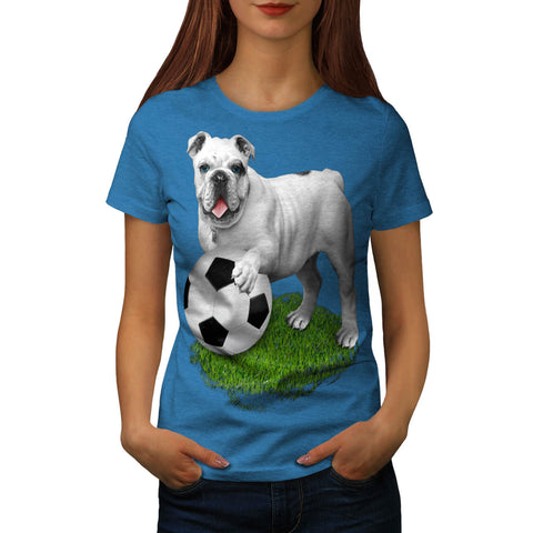 Football Bulldog Womens T-Shirt