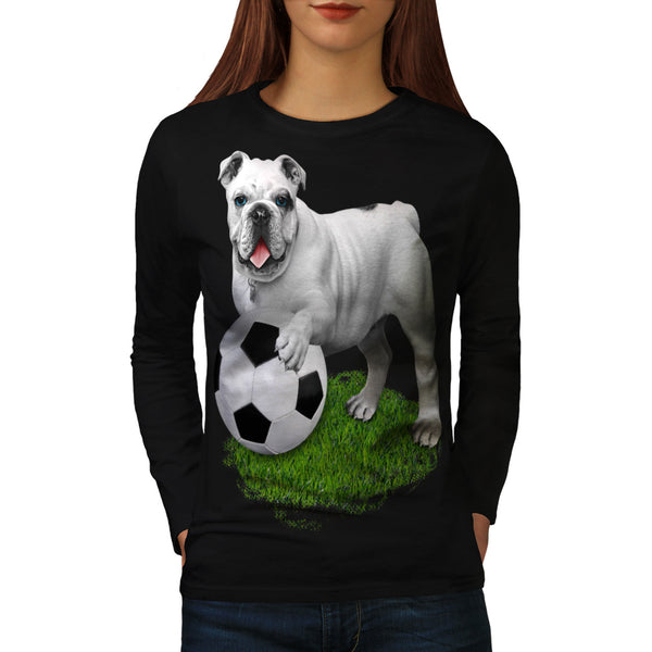 Football Bulldog Womens Long Sleeve T-Shirt