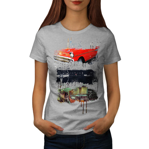 Cool Vintage Car Womens T-Shirt