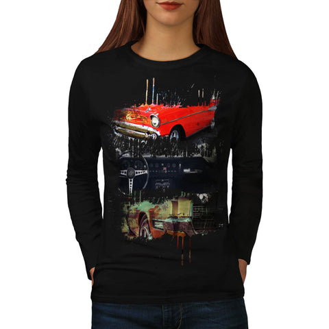 Cool Vintage Car Womens Long Sleeve T-Shirt