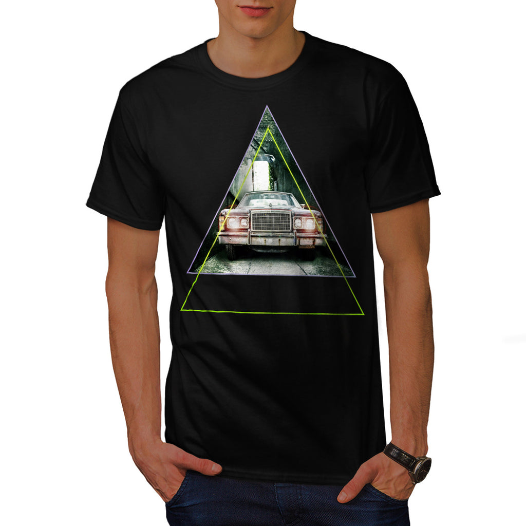 Vintage Triangle Car Mens T-Shirt