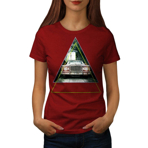 Vintage Triangle Car Womens T-Shirt