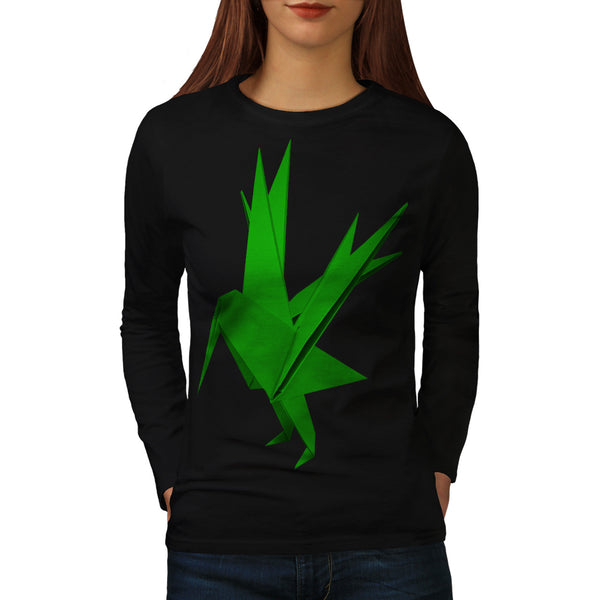 Origami Creature Womens Long Sleeve T-Shirt
