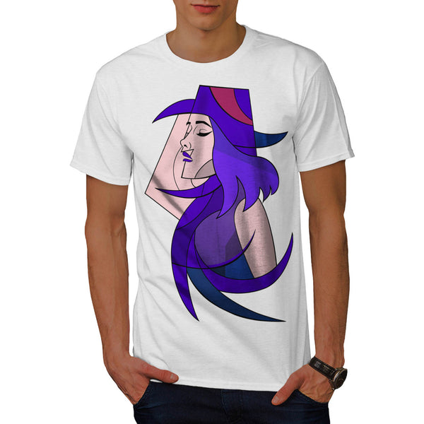 Geometric Jazz Girl Mens T-Shirt
