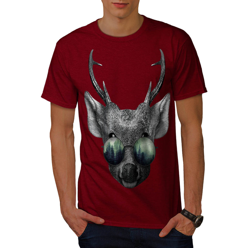 Cool Forest Glasses Mens T-Shirt