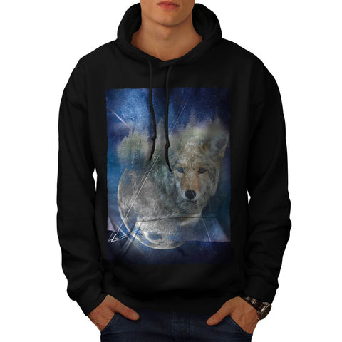 Animal Wolf Galaxy Mens Hoodie