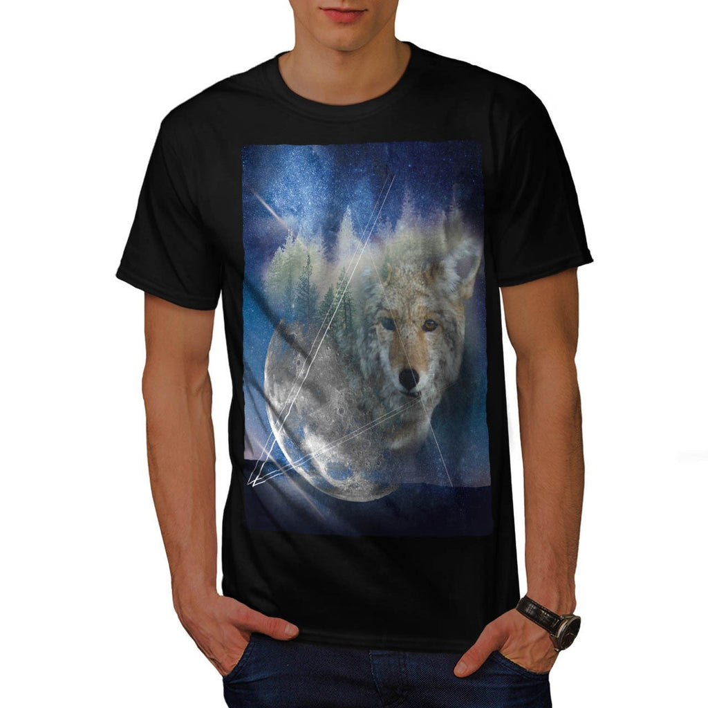 Animal Wolf Galaxy Mens T-Shirt