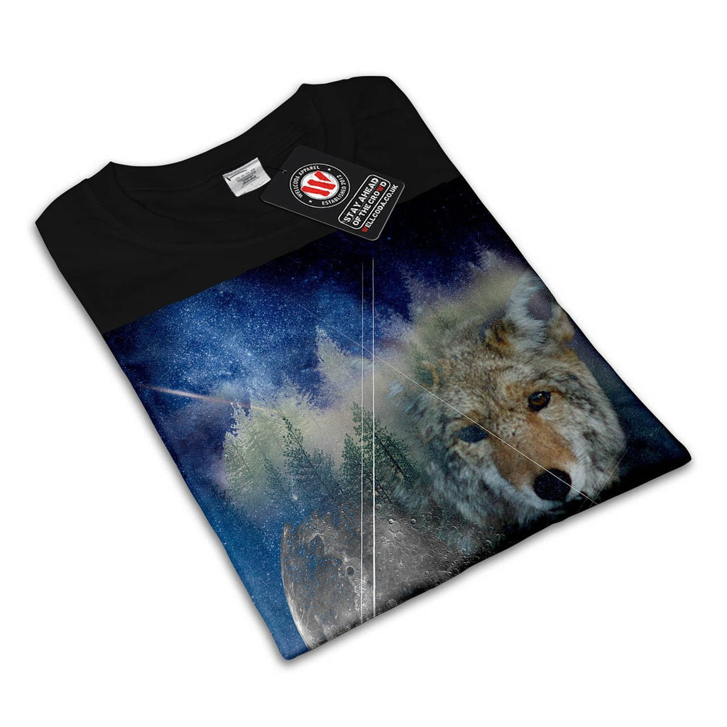 Animal Wolf Galaxy Womens T-Shirt