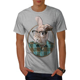 Hipster Rabbit Ear Mens T-Shirt