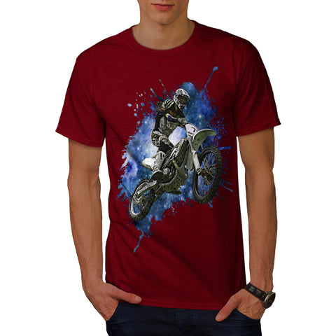 Space Motorcycle Mens T-Shirt