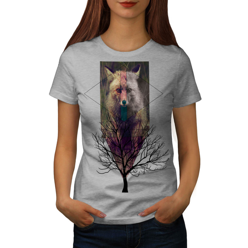 Fox Wild Hipster Womens T-Shirt