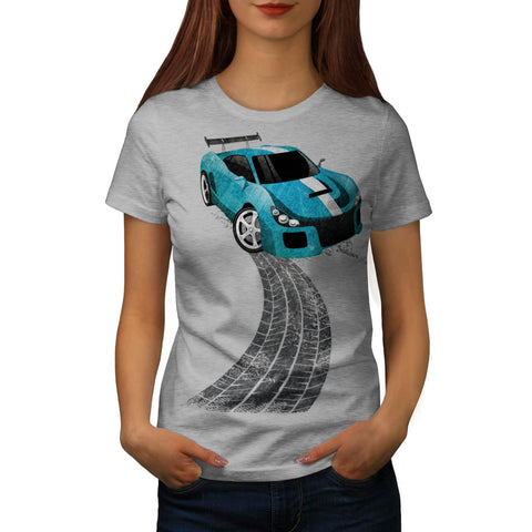 Drifting Race Car Womens T-Shirt