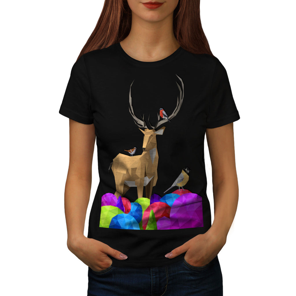 Wild Forest Deer Womens T-Shirt