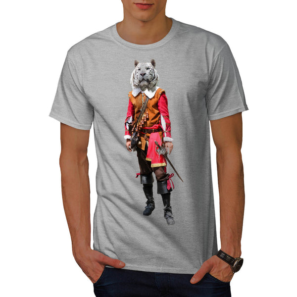 Tiger Head Pirate Mens T-Shirt