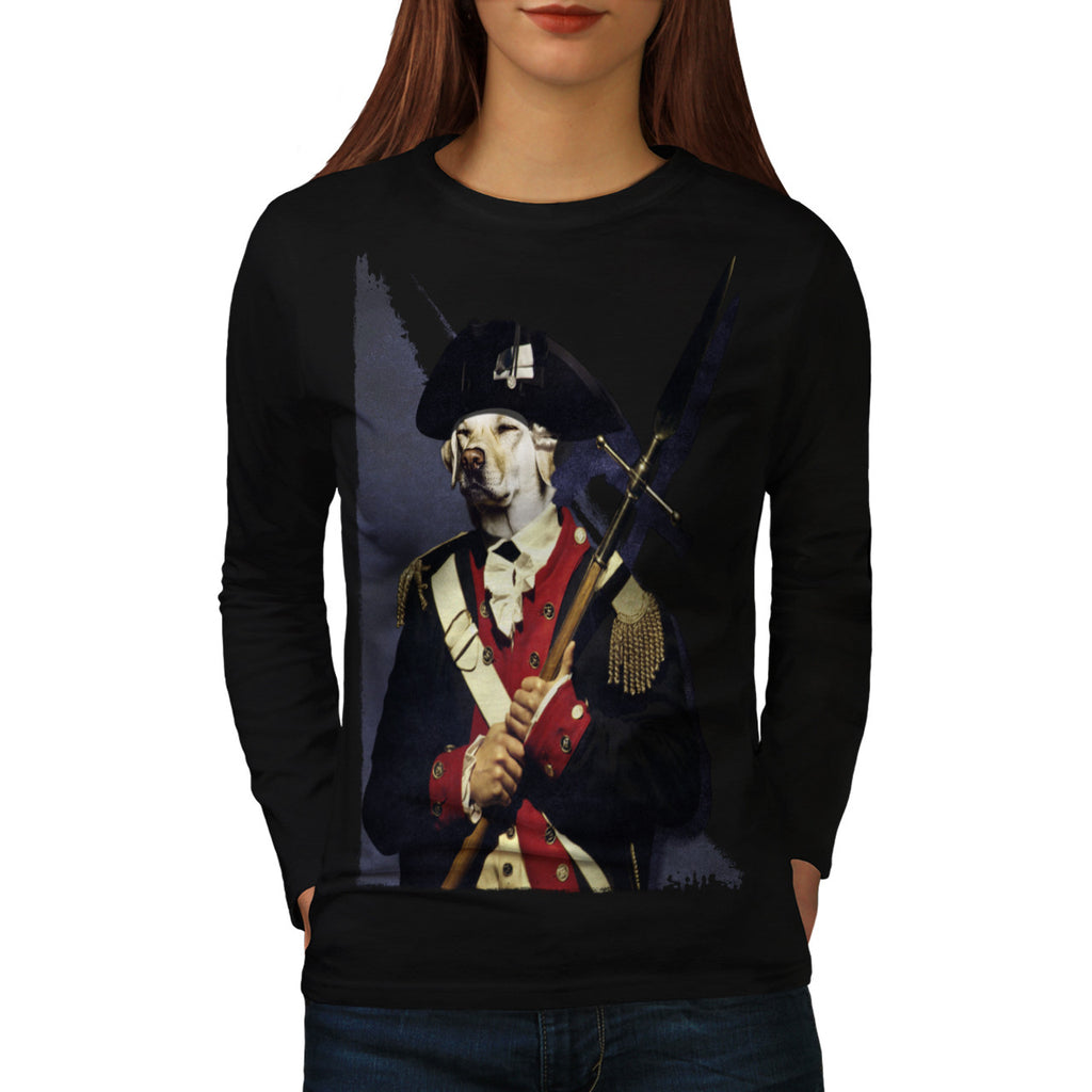 Napoleon Guard Dog Womens Long Sleeve T-Shirt