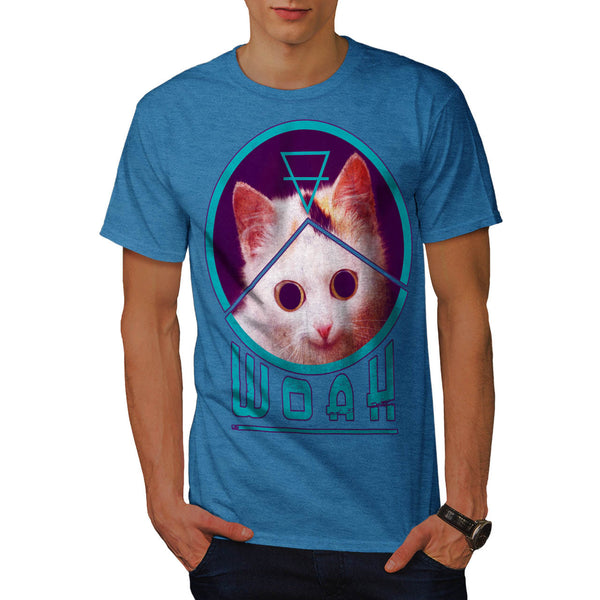 Woah Kitty Surprise Mens T-Shirt