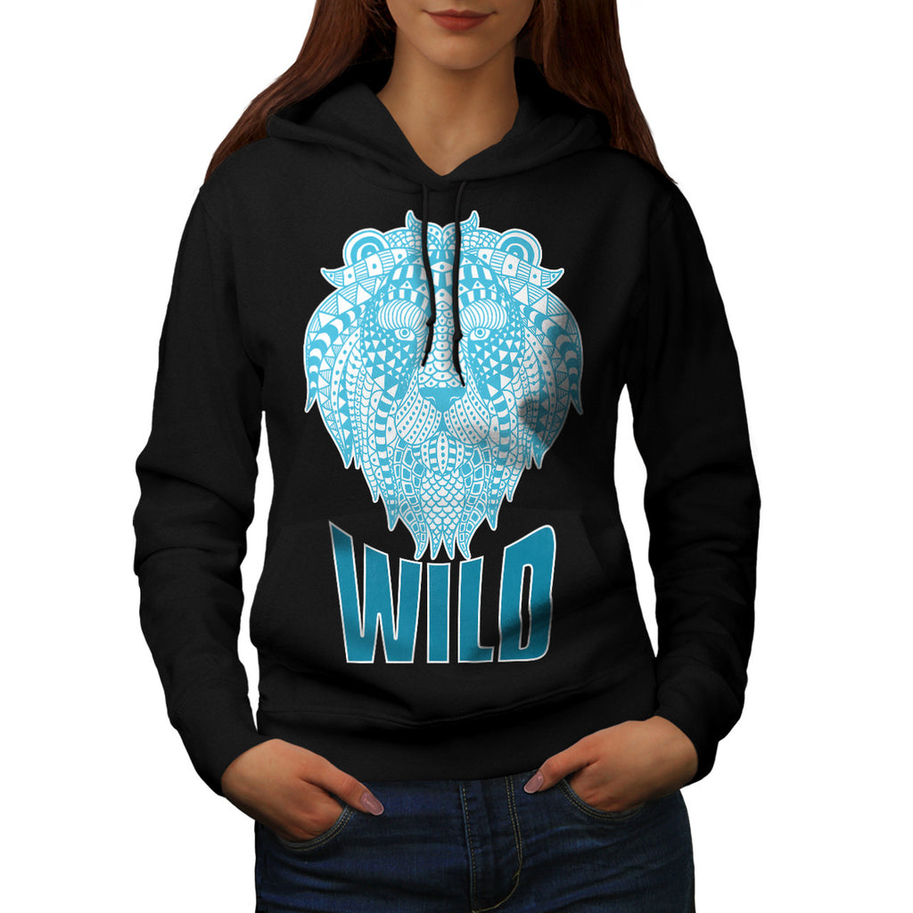 Wild Lion Ornament Womens Hoodie