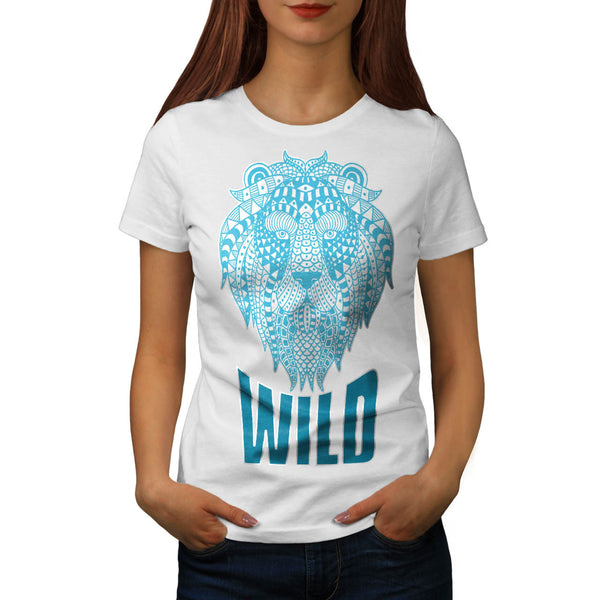 Wild Lion Ornament Womens T-Shirt