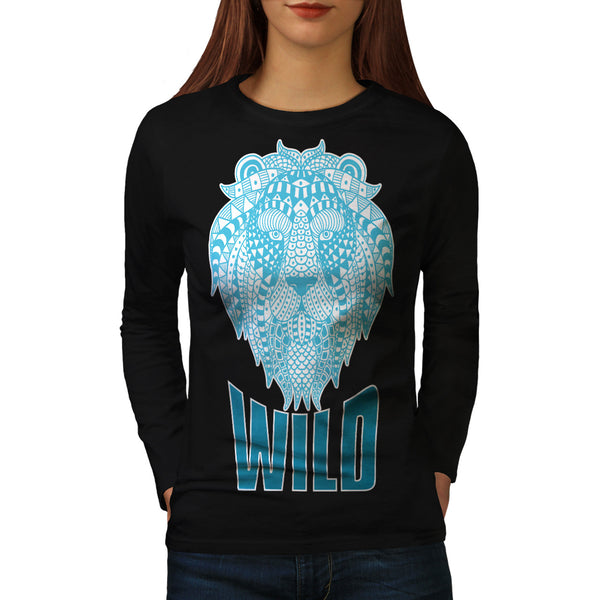 Wild Lion Ornament Womens Long Sleeve T-Shirt