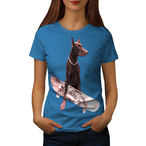 Noble Skater Doggy Womens T-Shirt