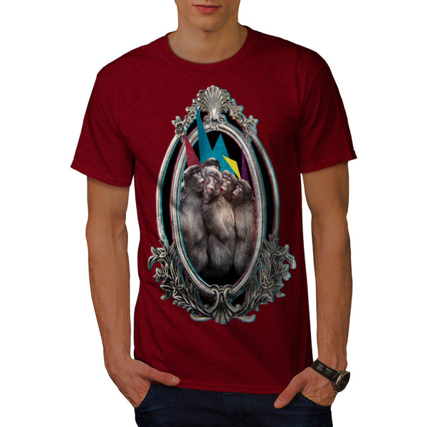 Monkey Lipstick Pose Mens T-Shirt