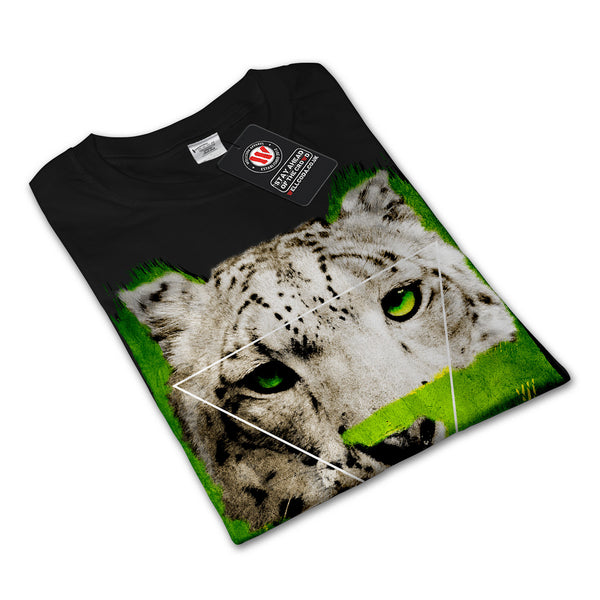 Green Leopard Stalk Womens Long Sleeve T-Shirt