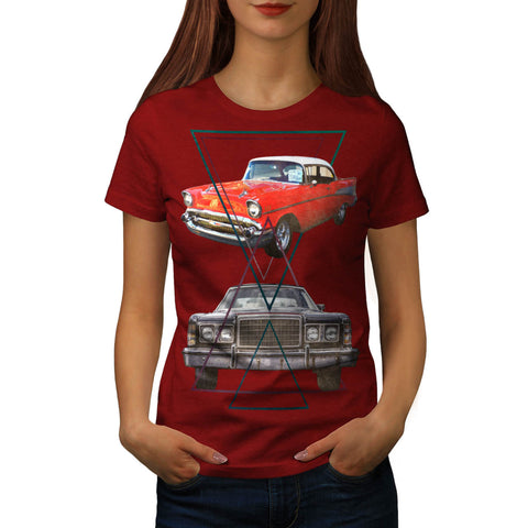 Retro Triangle Ride Womens T-Shirt