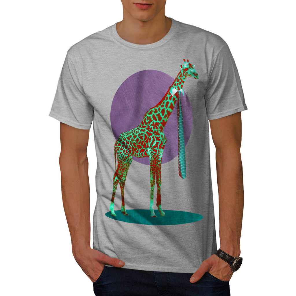 Tall Giraffe Necktie Mens T-Shirt