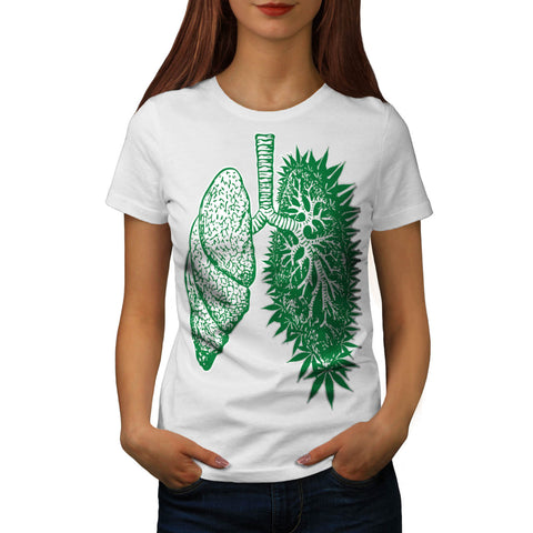 Funny Grass Lung Womens T-Shirt