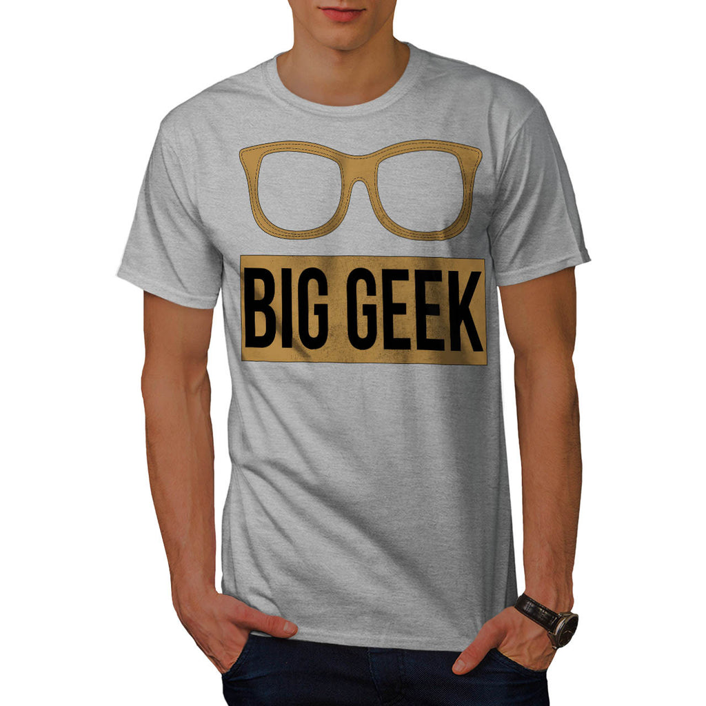 Big Geek Eye Glasses Mens T-Shirt