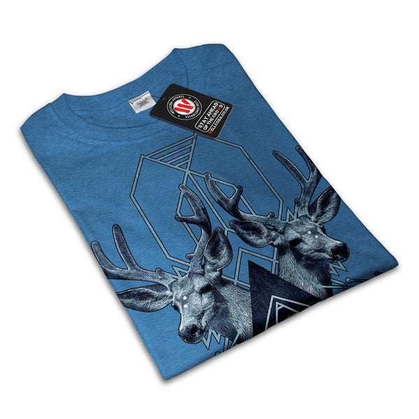 Snowy Forest Deer Mens T-Shirt