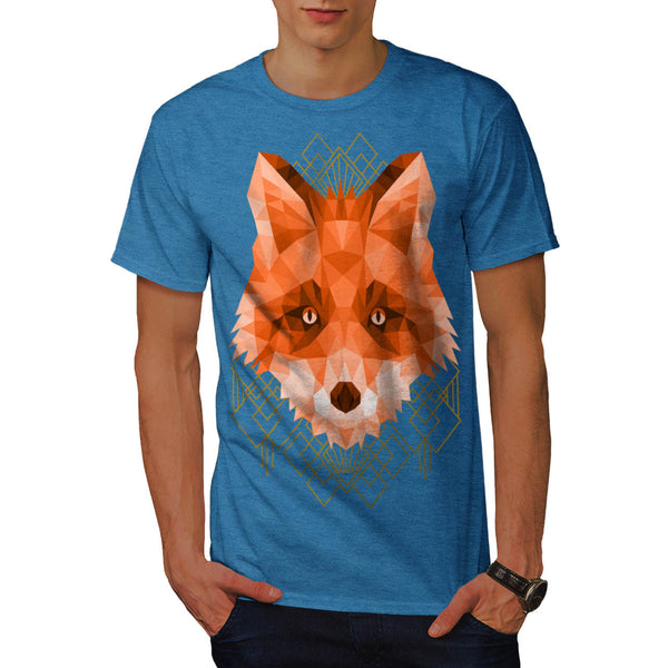 Polygonal Fire Fox Mens T-Shirt