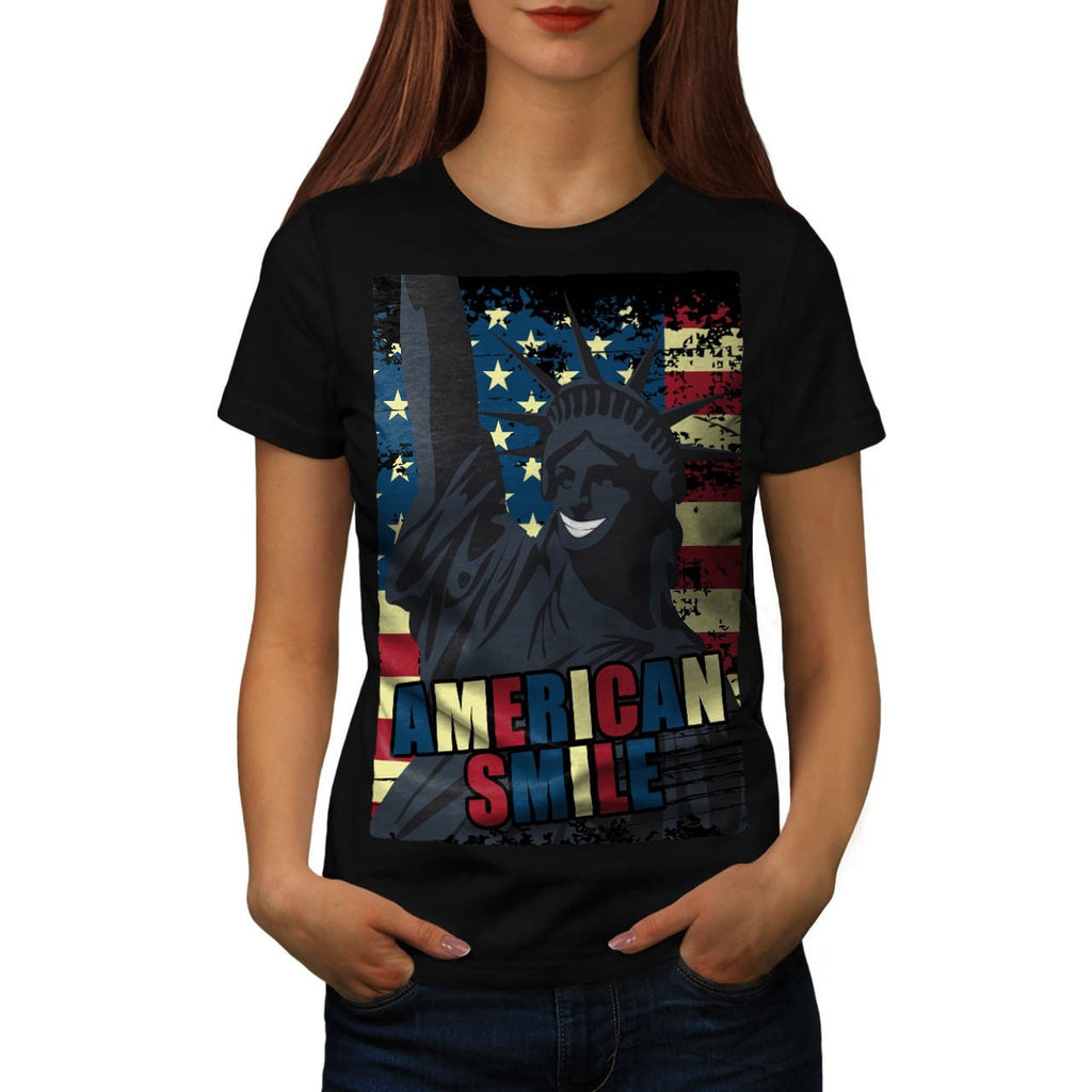 American Smile Funny Womens T-Shirt