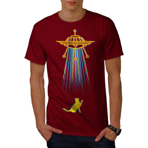 Color Cat Abduction Mens T-Shirt
